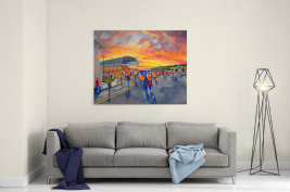 selhurst park going to the match canvas a3 size